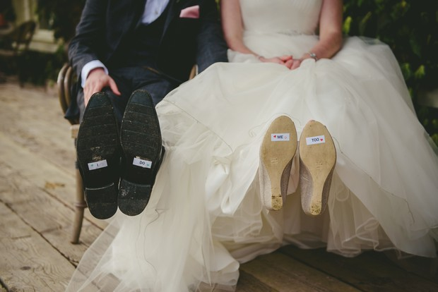 Cute-wedding-additions-DIY-shoes-sign-I-do-weddingsonline