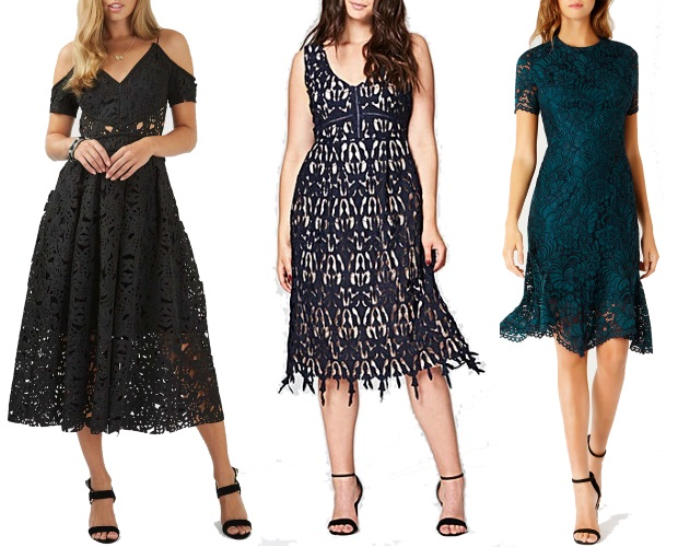 Wedding Guest Dresses Lace : Lace cut fit and flare dress simply be linera