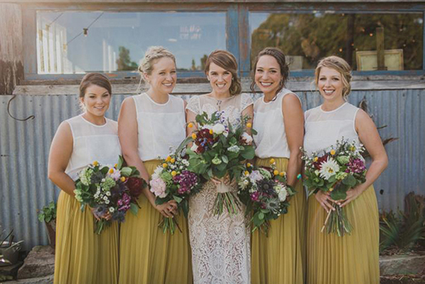 bridesmaids-in-separates-long-skirts-andhigh-neck-tops