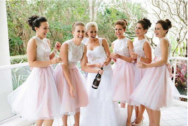 bridesmaids-in-tulle-skirts-separates