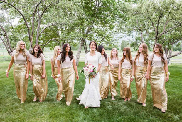 bridesmaids-separates-gold-sequin-skirts