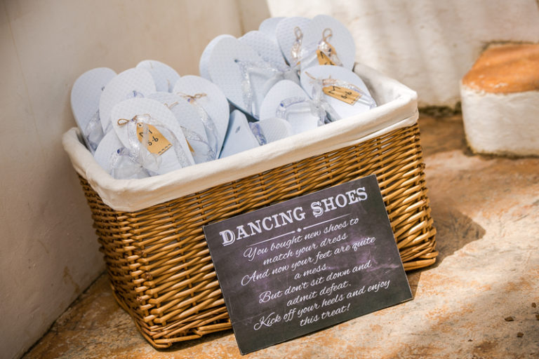dancing-shoes-flip-flop-basket-wedding