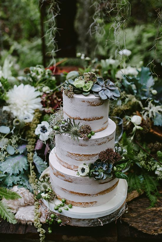 An Elegant Enchanted Forest Wedding Theme Palette