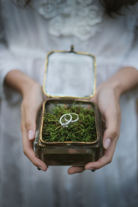 forest-wedding-theme-ring-box-foliage