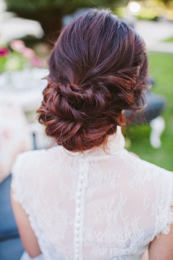 Hair Low Updo Wedding Style