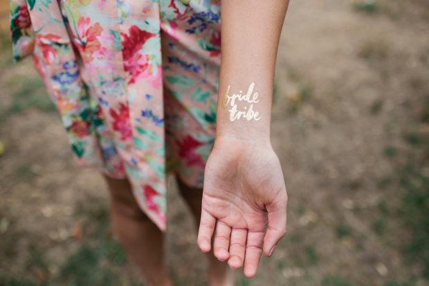 hen-party-ideas-temporary-tattoos-bride-tribe