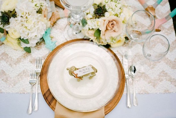 24 fabulous wedding table place settings we d to sit to