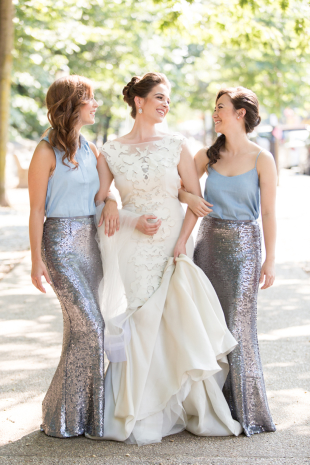 silver-sequin-skirts-separates-bridesmaids