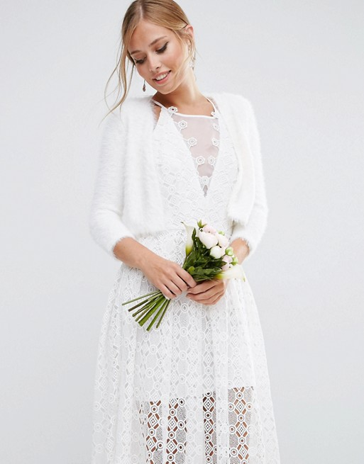 Fabulous faux fur bridal cover ups for winter weddings asos bridal knitted cover up junglespirit Images