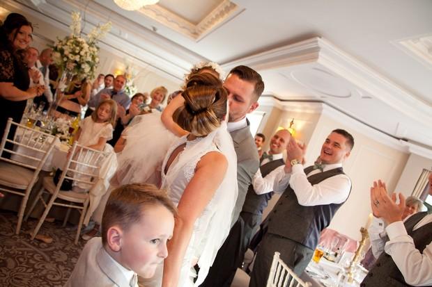 bellingham-castle-real-wedding-bride-and-groom-reception-entrance