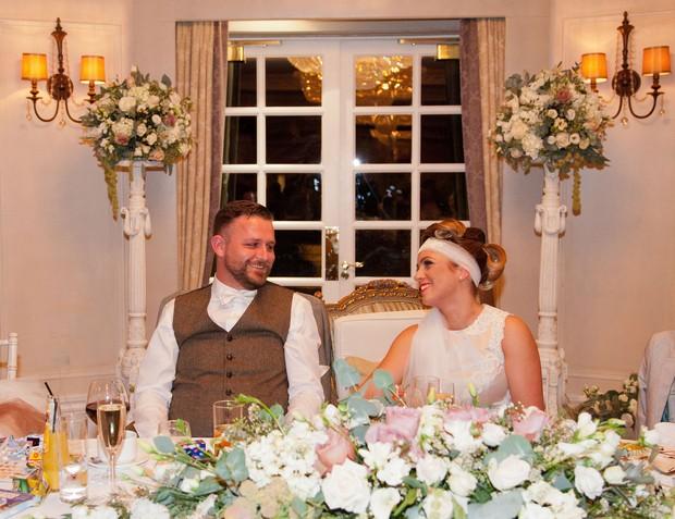 bellingham-castle-real-wedding-bride-and-groom-top-table