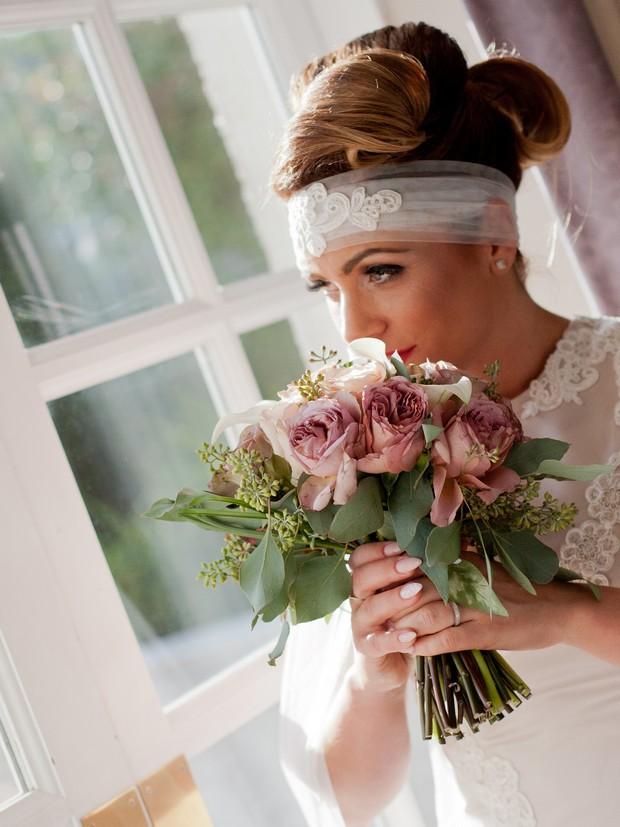 bellingham-castle-real-wedding-bride-with-bouquet