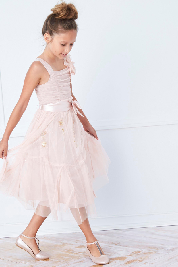 blush-pink-tulle-corsage-flower-girl-dress-from-next