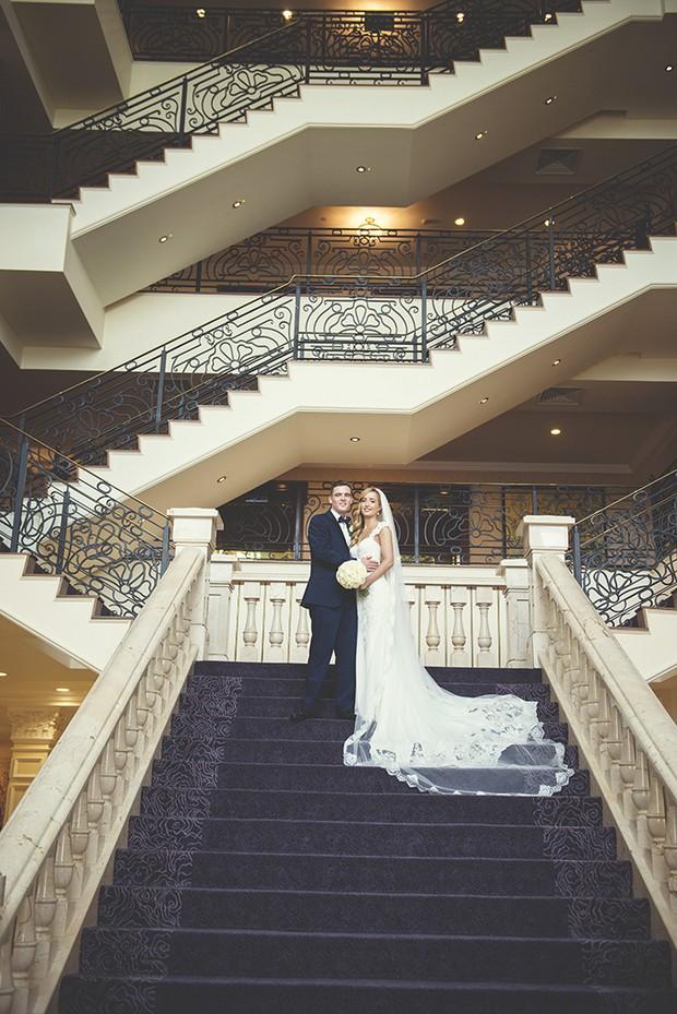 bride-and-groom-stairs-heritage-killenard