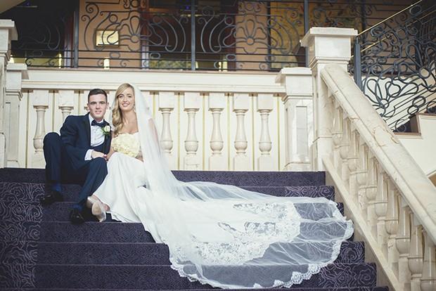 bride-groom-sitting-on-stairs-heritage-killenard