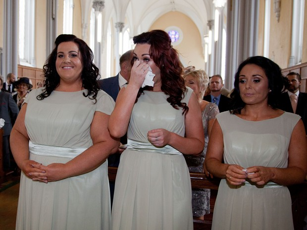 bridesmaids-at-ceremony-bellingham-castle-real-wedding