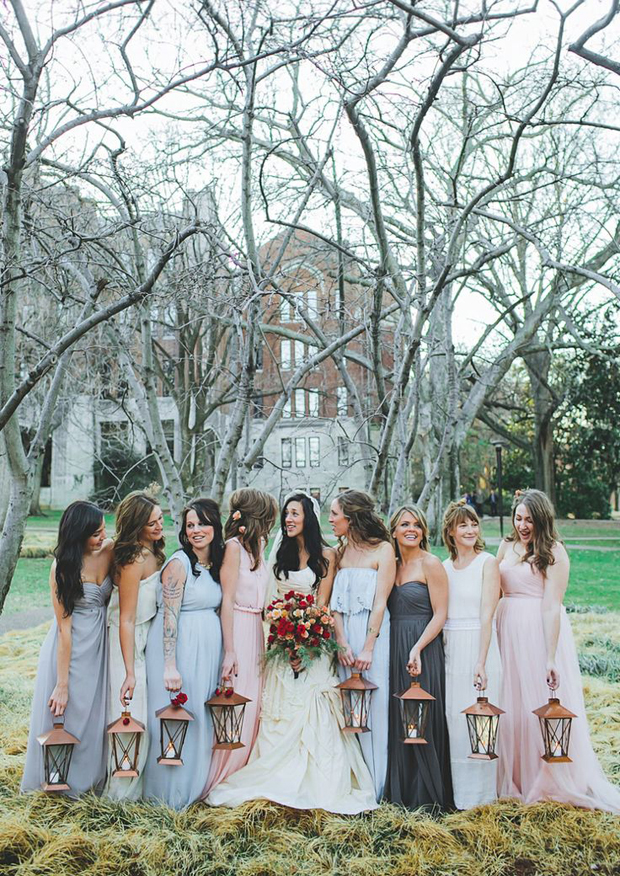 14 Stylish Ideas for Autumn/Winter Bridesmaids ...
