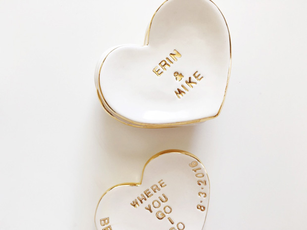 gold-rim-heart-shaped-personalised-ring-dish-wedding