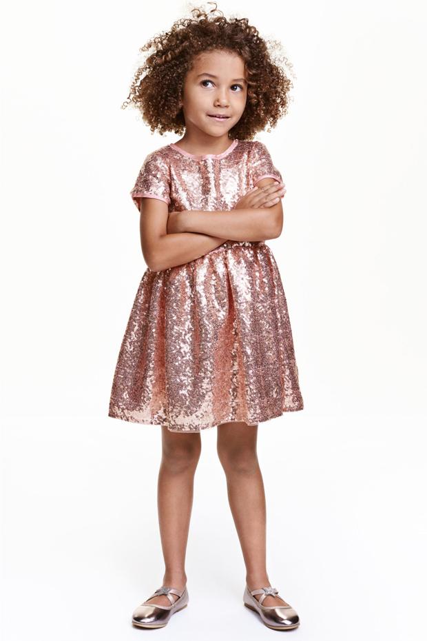 gold-sequin-flower-girl-dress-h&m