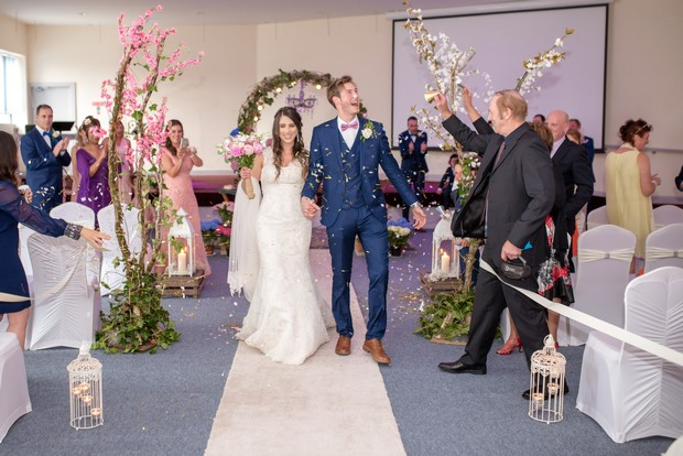 loughrea-hotel-real-wedding-paul-duane-bridal-exit-confetti