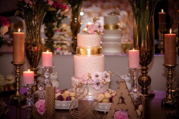 loughrea-hotel-real-wedding-paul-duane-romantic-pink-and-gold-wedding-cake