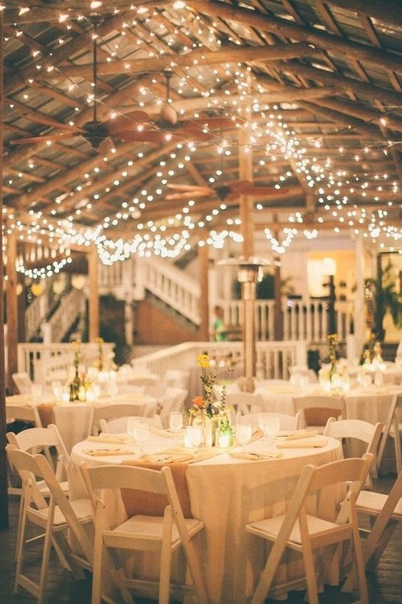 rustic-barn-wedding-lighting-ball-string-ceiling
