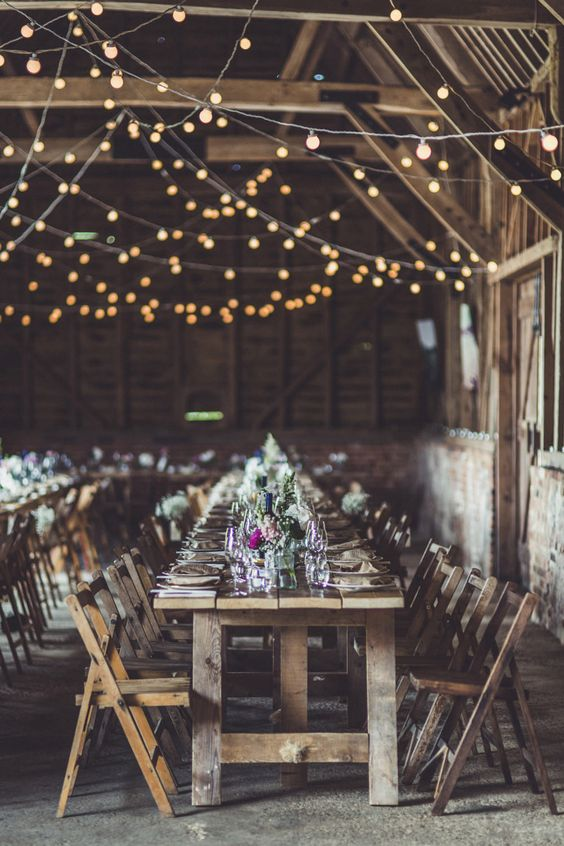 rustic-wedding-lighting-barn-ball-string