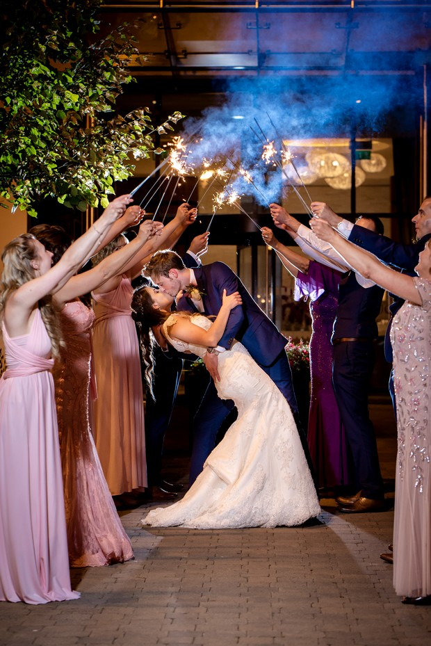 sparklers-wedding