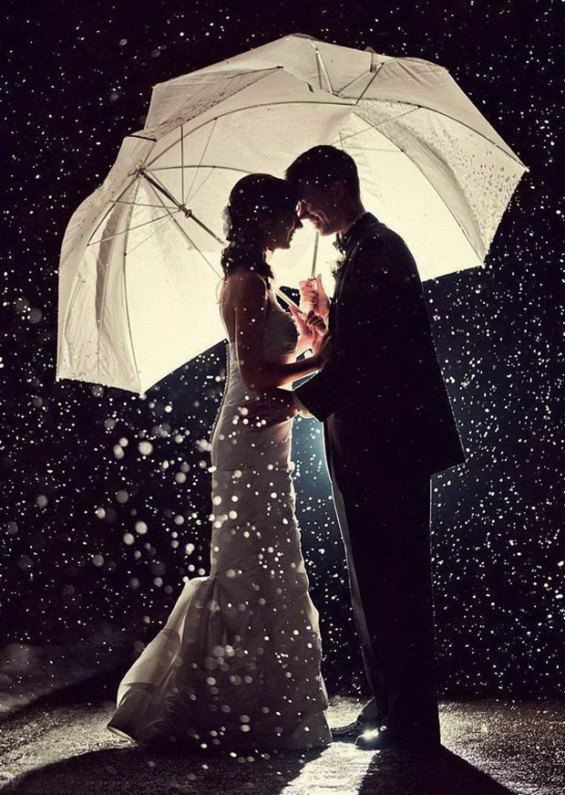 wedding-couple-rain-night-time-shot