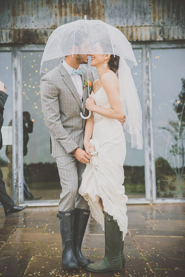 wedding-couple-under-birdcage-umbrella