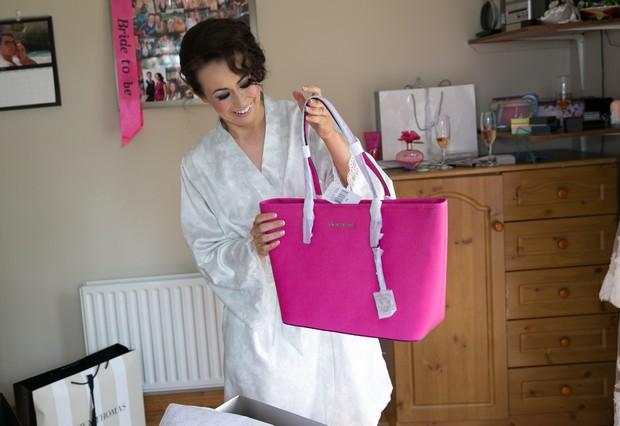 9-bride-gift-wedding-morning-pink-michael-kors-hand-bag-weddingsonline