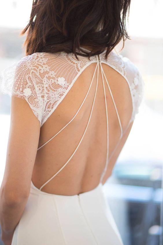 alexander grecco vestido de novia con detalle sin espalda 2017