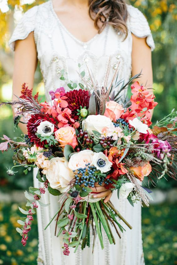 autumn-wedding-bouquet-plum-pink-mix