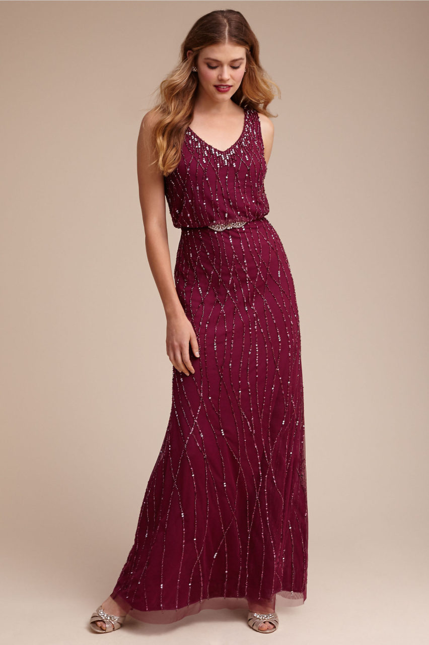 12 stunning sparkly bridesmaid dresses for a winter wedding bhldn sparkly bridesmaid wine sequin dress ombrellifo Image collections