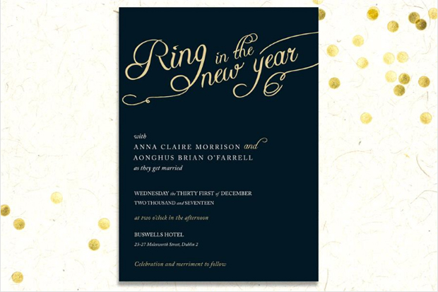 black-and-gold-ring-in-the-new-year-wedding-invitation
