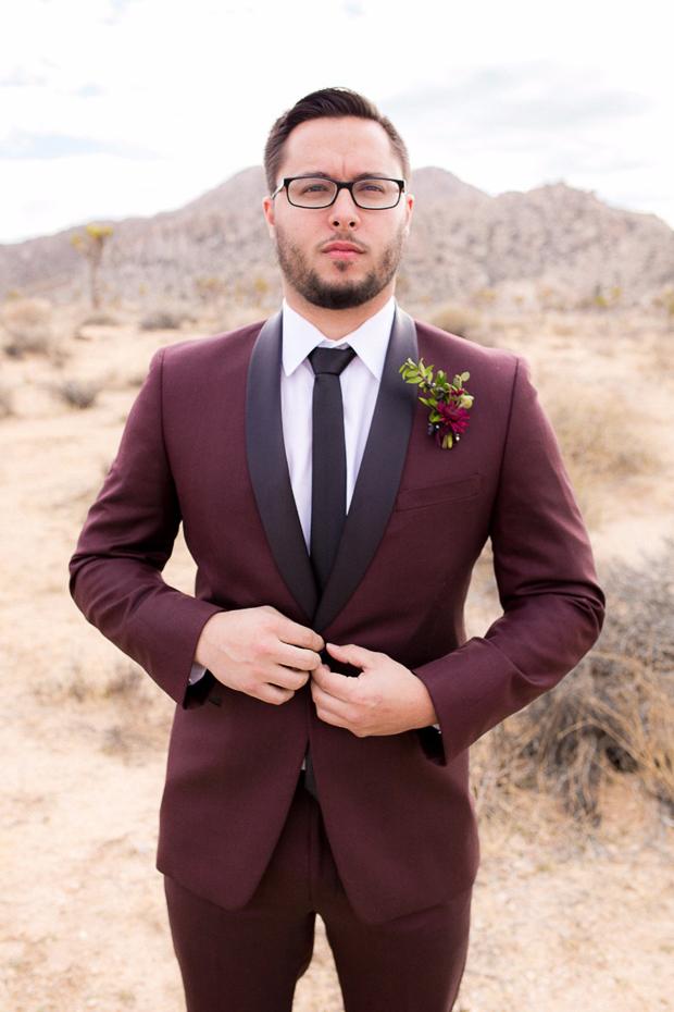 burgundy-tuxedo-groom