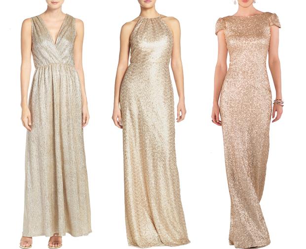 glittery-gold-bridesmaid-dresses