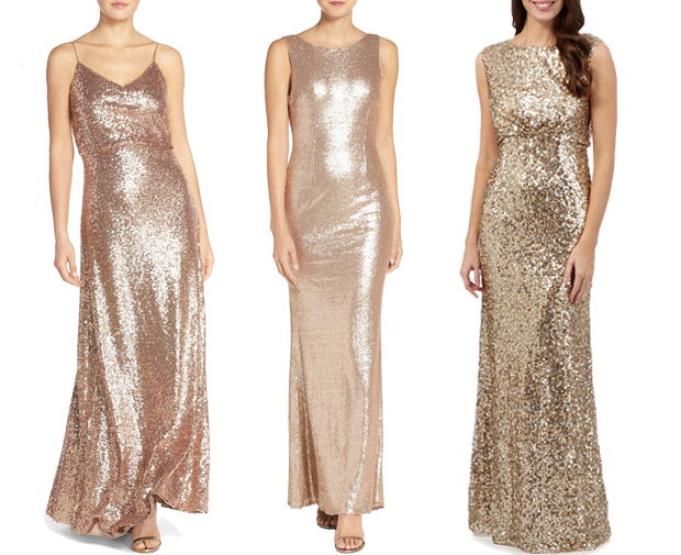 gold-sequinned-bridesmaid-dresses