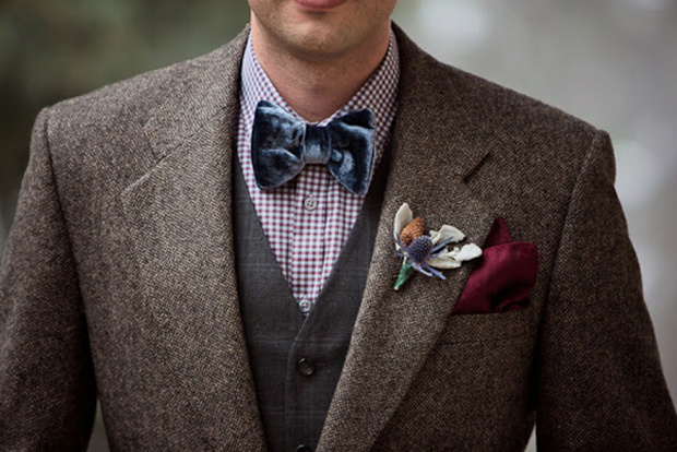groom-in-tweed-jacket-with-velvet-bow-tie