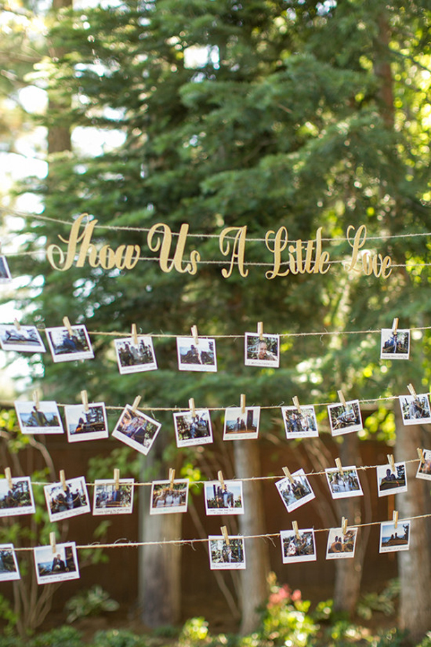 7 fun ways to use instax cameras in your big day for Idee per appendere foto