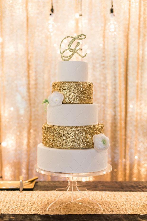 ivory-and-gold-glitter-wedding-cake
