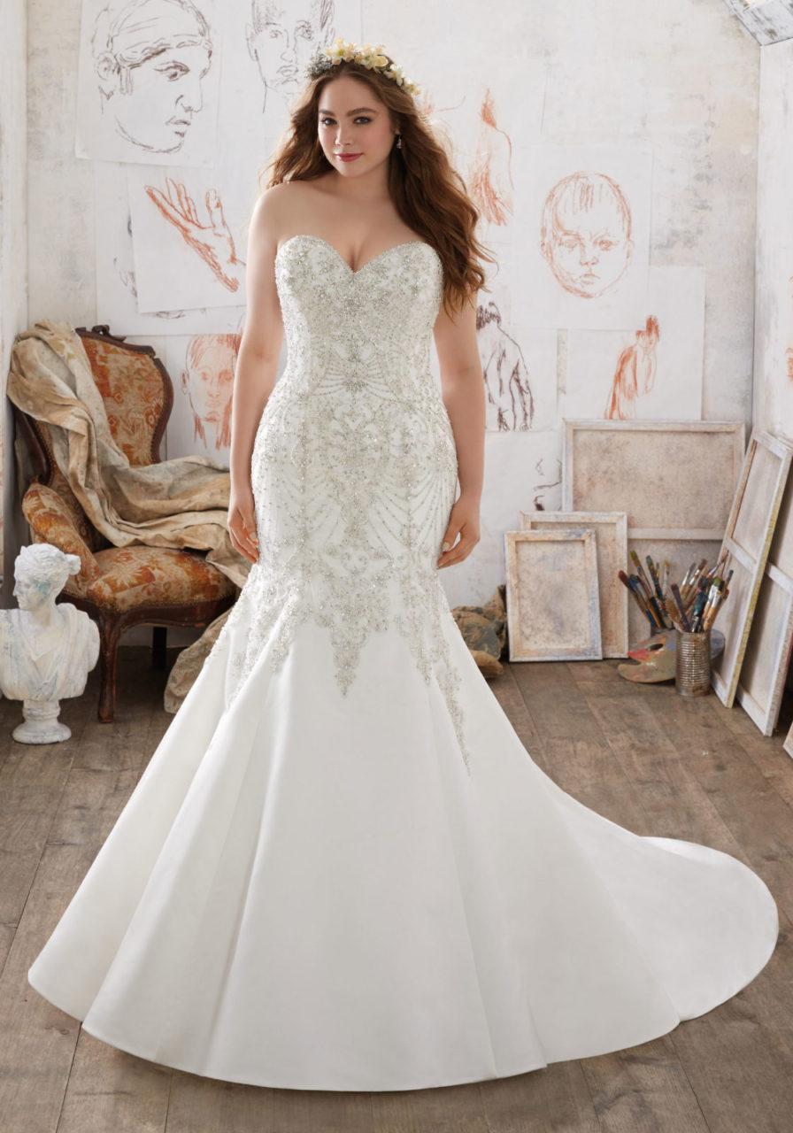14 Fabulous Plus Size Wedding Dresses for 2017 Brides | weddingsonline