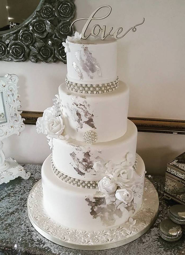 silver-ivory-wedding-cake