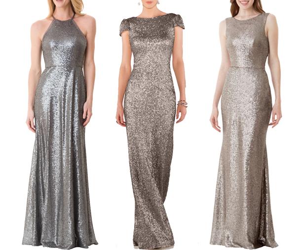silver-metallic-bridesmaid-dresses