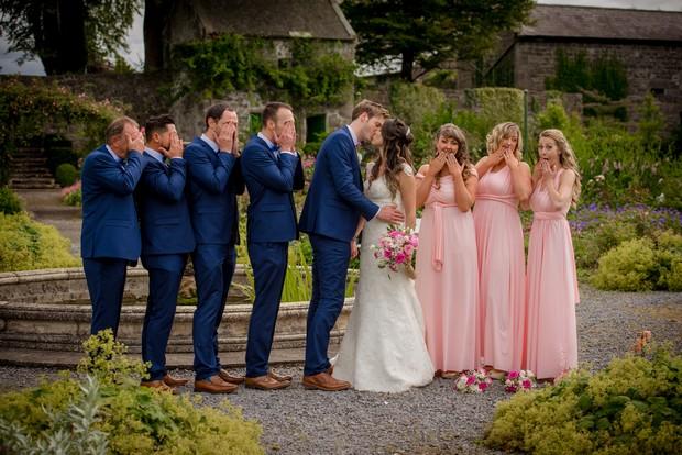 Wedding uneven bridal party