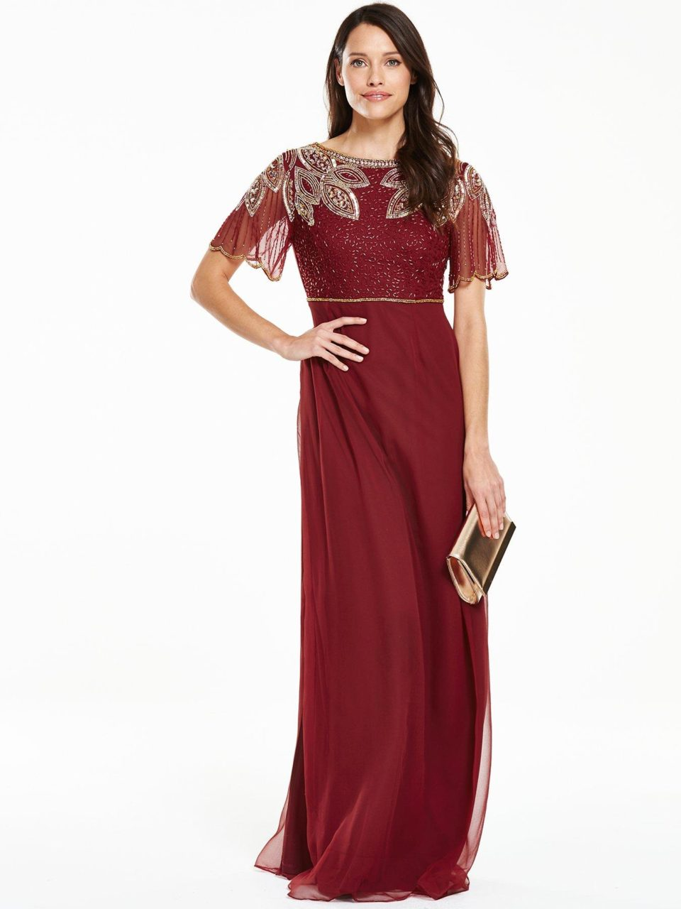 12 stunning sparkly bridesmaid dresses for a winter wedding v by very merlot embellished maxi dress vintage ombrellifo Choice Image