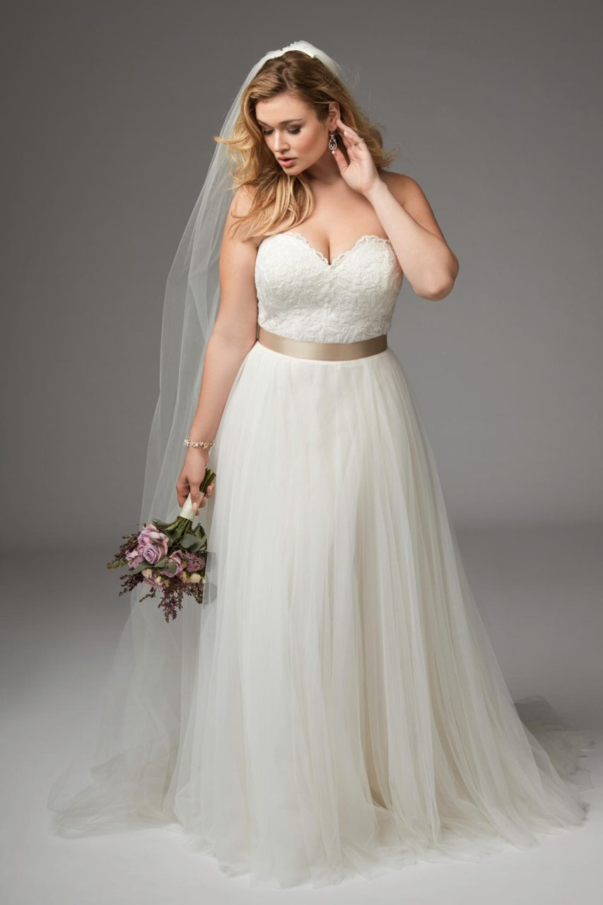 14 fabulous plus size wedding dresses for 2017 brides for Chic and curvy wedding dress
