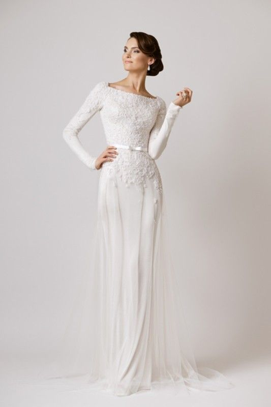 Winter Wedding Dresses Wow Long Sleeve Sheath Weddingsonline