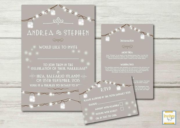 22 incredibly pretty winter wedding invitations weddingsonline winter wedding invitation mason jar wedding invitation invites junglespirit Gallery