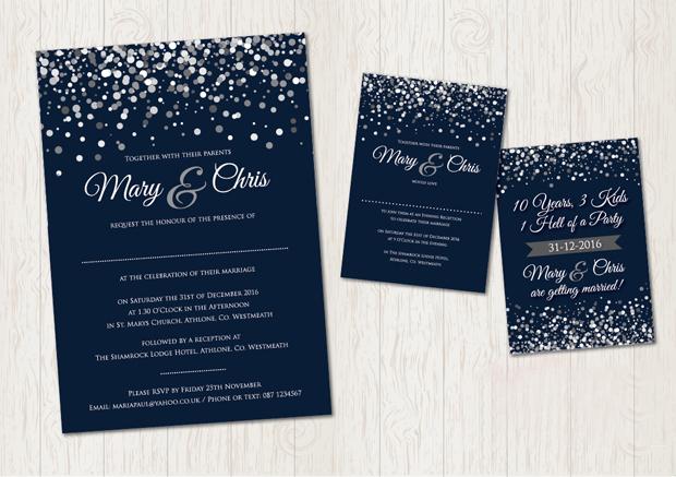 22 incredibly pretty winter wedding invitations | weddingsonline, Wedding invitations